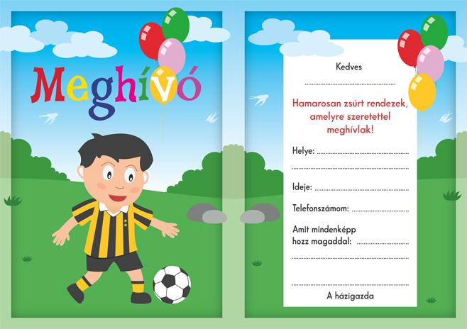 focis szülinapi meghívók Ingyenes meghívó minták – magyarul | Kölyökzsúr focis szülinapi meghívók
